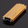Gold Black CNC Aluminium Profile Decorative Line Anodize Heat Insulation for sale