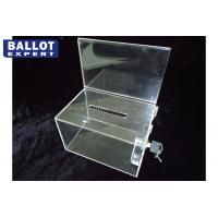 Quality OEM Election Campaign Acrylic Voting Ballot Box , Locking Ballot Box for sale