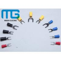 Wholesale Series SV copper electrical insulated spade wire terminal red blue black yellow TU-JTK from china suppliers