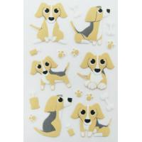 Wholesale pup dog home Wall Puffy Animal Stickers custom printed Removable from china suppliers