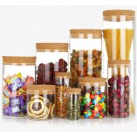 Wholesale Custom borosilicate glass jars with lids for food storage containers with different size available from china suppliers