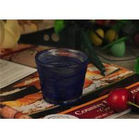 Wholesale Birthday handmade blue glass candle holder , 70ml glass candle jars from china suppliers
