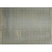 Wholesale Square Hole Perforated Stainless Steel Plate , Length 1m Perforated Mesh Sheet from china suppliers