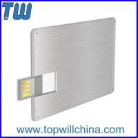 China Promotion Slim Metal Credit Card USB 16 GB Flash Drive High Printing Quality Best Price for sale