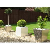 Wholesale Contemporary Polished Stainless Steel Planters Decorative Customized Size from china suppliers