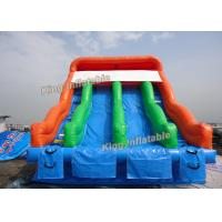 China 6*6 m Kids Love Double Lane Inflatable Water Slide For Outdoor Playground on sale