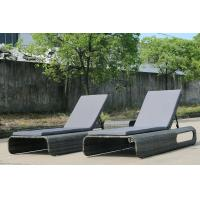 Wholesale Hot Selling Grey Beach Wicker Daybed Outdoor Rattan Daybed Lounge Furniture from china suppliers