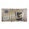 Decorative Coffee Bar Garage Cafe Wall Plate Tin Plate Wall Plaque Iron Plate Plaque for sale
