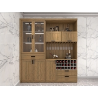 Wholesale Home Bar Cabinet With Wine Storage Cabinets In Melamine Board With Acrylic Shelves And Wine Glass Rack from china suppliers