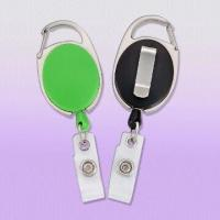 Wholesale Premium Carabiner Style Badge Reels with Slide Clip Back from china suppliers