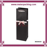 Wholesale Single wine gift packaging bag, die-out handle paper wine bags ME-BG029 from china suppliers