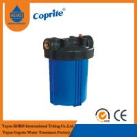 China 10 Big Blue Filter Housing , PP Filter Housing RO Water Filter Parts Removes Dirt on sale