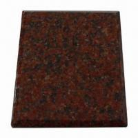 Indian Red Granite Tile with 1 to 3cm Thickness for sale