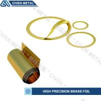 Wholesale Customized Bright Golden Yellow Precision Brass Foil Roll For Laminated Shims from china suppliers