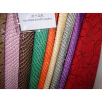 Wholesale Customized Color 0.8-1.2mm Thickness PU Leather Cloth / Synthetic Leather from china suppliers