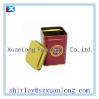 Wholesale Small Square Tea Canisters In Red Color from china suppliers