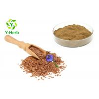 China Secoisolariciresinol Diglucoside Linseed Lignans Powder 20% 40% Common Flax Seed Extract on sale