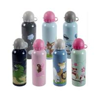 Blank Sublimation aluminium water bottle with carabiner lid 400ml 500ml 600ml 750ml sport bottle for custom printing for sale