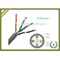 Wholesale LSZH Jacket Fiber Network Cable Cat5e U/UTP 4x2x0.48 Cuprum Solid Inside Installation from china suppliers
