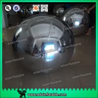 Wholesale Wedding Stage Christmas Decoration Inflatable Mirror Balls Large Gold / Silver from china suppliers