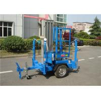Quality Vertical Trailer Mounted Man Lift , Single Mast Trailer Boom Lift For Window Cleaning for sale