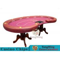 Quality High Density Texas Holdem Poker Table , Casino Style Poker Table With Soft Touch for sale