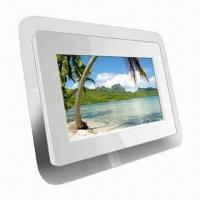 Wholesale 7-inch White Digital Photo Frame with 12V DC Power Supply and 480 x 234p Resolution from china suppliers