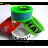 China 2016 Promotion Cheap Custom Silicone Slap Bracelet With your Logo for sale