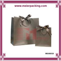 Wholesale Matte printing black paper gift bag, cotton and ribbon handle carrier paper bags ME-BG026 from china suppliers