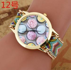 Buy cheap New Brand Handmade Braided Ice Cream Friendship Bracelet Watch GENEVA Watch from wholesalers