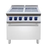 Buy cheap 4 ring Induction on open cupboard catering equipment commercial induction range from wholesalers
