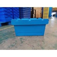China Larger Logo Printing Stack Nest Plastic Attached Lid Containers for sale