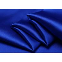 Wholesale Eco Friendly Blue Pure Silk Fabric 210 Density For Sleepwear / Wedding from china suppliers