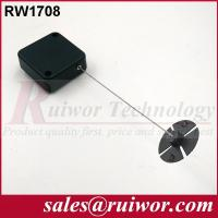 Wholesale Anti Theft Recoiler Security Pull Box With Gummy ABS Plate Terminals / Square Shape from china suppliers