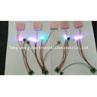 Wholesale Beautiful Lights  2 Colorful LED And 1 Button Flashing sound chip for toys from china suppliers