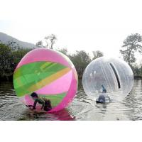 China Safety Rope Connection Inflatable Walking Ball , Walk On Water Bubble 2.0m 2.5m Diameter on sale