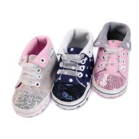 Wholesale China Factory Canvas sport Baby girl designed 0-2 years Lace-up baby shoes from china suppliers