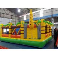 Wholesale Naughty Palm Tree PVC Tarpaulin Inflatable Bouncy Castle for Children from china suppliers