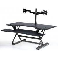 Stand Up Computer Workstationholds 2 Monitors With Retractable Keyboard Tray 48 inch for sale