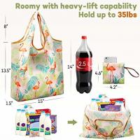 China Foldable Ripstop Nylon Recycle Shopping Bags Compact Design Fits In Pocket for sale