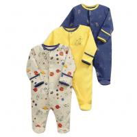 China Spring Long Sleeve Unisex Kids Clothes 100% Organic Cotton Baby Boy Rompers on sale