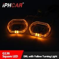 Wholesale IPHCAR BMW Halo rings Led light guide angel eye with turn light White/Blue/Red Epistar Chip Led angel eye from china suppliers
