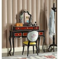 Wholesale Luxury house of Villa Bedroom furniture Dresser with Mirror stand in Beech wood carving from china suppliers