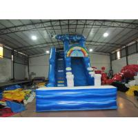 Digital print inflatable Naval Air Force Helicopter standard slide inflatable high dry slide for Children under 15 years for sale