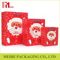 Wholesale Xmas Santa Claus printing gift bag festival christmas paper bag printed with thress size from china suppliers