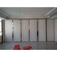 China Office Decoration Movable Wood Folding Partition Walls For Multi Function Hall on sale
