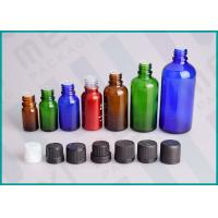 China Color Coated Glass Bottles With Screw Cap And Orifice Reducer For Essential Oil on sale