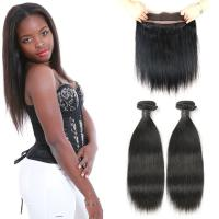 Wholesale Raw 360 Lace Frontal Closure , Natural Black 360 Lace Frontal Human Hair from china suppliers