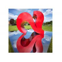 Wholesale Red Color Painted Modern Garden Sculptures City Decoration Stainless Steel Heart Shaped from china suppliers