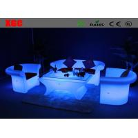 Wholesale Blue Illuminated LED Light Sofa / Light Up Lounge Sofa 16 Colors Changing from china suppliers
